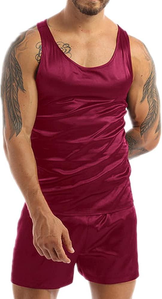 Men Satin Pajamas Pyjamas Max 54% OFF San Antonio Mall Set Homewear S Pijama Summer Sleepwear