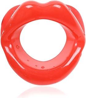 UniSign 表情筋トレーニング器 小顔マウスピース 口枷 小 小顔サポート 美顔器 ローラー フェイシャルリフト フェイススリマー フェラチオ道具 携帯便利 機能性 男女兼用(赤)