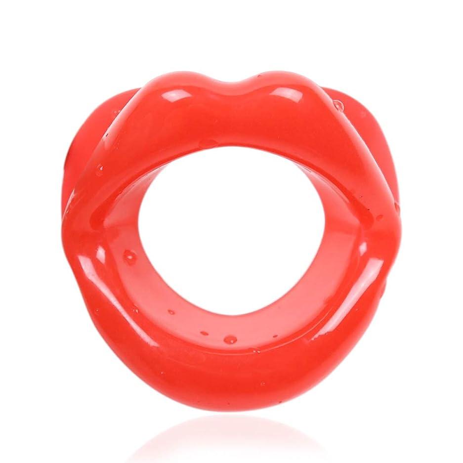 保護する狂気励起UniSign 表情筋トレーニング器 小顔マウスピース 口枷 小 小顔サポート 美顔器 ローラー フェイシャルリフト フェイススリマー フェラチオ道具 携帯便利 機能性 男女兼用(赤)