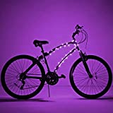 Brightz CosmicBrightz LED Bicycle Frame Lights, Purple - 6.5-Foot Light Rope for Bikes - Battery-Powered Pack with On/Off Switch - Available in Ultra-Bright Colors - Fits Kid, Teen & Adult Bikes