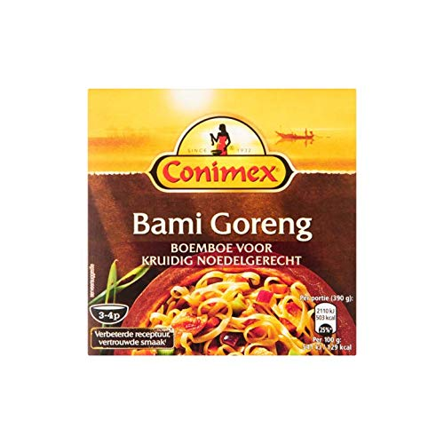Bami Kräuterpaste   Conimex   Boemboe Bami Goreng   Gesamtgewicht 95 Gramm