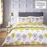 Catherine Lansfield Floral Banbury de Cuidado fácil, Amarillo, Set edredón...