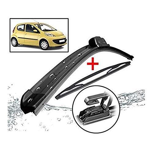 Voor + achter wisserbladen, ruitenwisser, aerodynamisch design duurzaam vervangende wisblaadjes ruitenwisserset plat blad-wisser auto accessoires car-styling geschikt voor 107 Ay-go AB10 C1 2005-2014