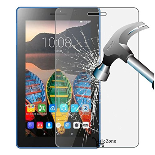 Hello Zone Tempered Glass Toughened Glass Screen Protector for Micromax Canvas Tab P701 Tablet
