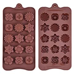 De-moulding is very easy and never breaks your chocolate Dishwasher safe, Color: Brown, Material: Silicone. Non-stick finish and temperature range: -40 to 230 degree celsius Material : Food Grade SIlicon. 1 Piece Chocolate Mould Tray With Any Differe...