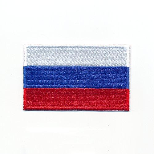 40 x 25 mm Russland Flagge Russische Föderation Flag Aufnäher Aufbügler 0961 A