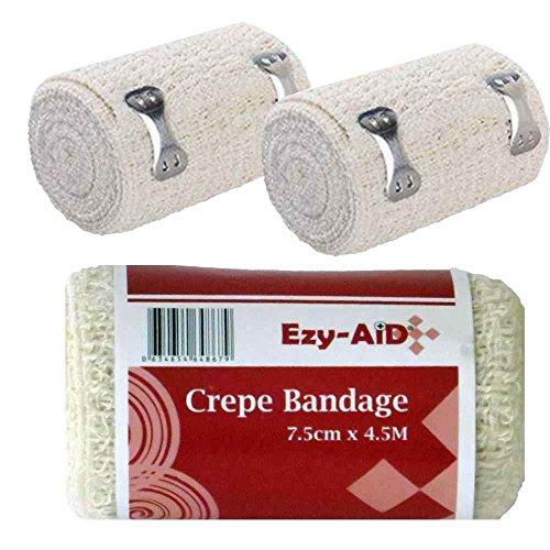 12Pk Ezy-Aid Crepe Bandage 7.5Cm X 4.5M - Premium Quality by Ezy-Aid