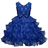 Csbks Girls Wedding Party Dress Pageant Baby Ruffles Tulle Princess Dresses Dark Blue 70