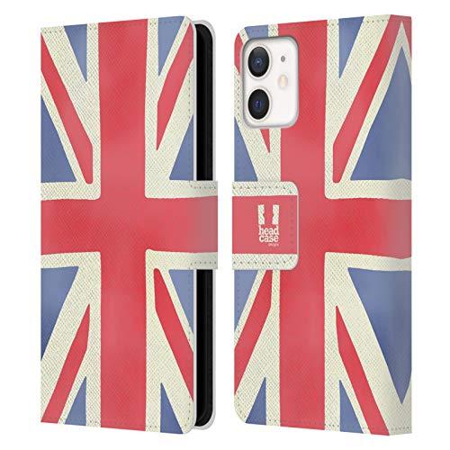 Head Hülle Designs Union Jack Das Beste Von London Leder Brieftaschen Handyhülle Hülle Huelle & Passende Designer Hintergr&bilder kompatibel mit Apple iPhone 12 Mini