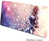 Grande Gaming Mouse Pad Mass Effect Extended Keyboard Tappetino mouse impermeabile antiscivolo Locking Gioco Bordo Mousepad Cafe Mat 900 * 400 * 3 millimetri for Office Home PC desktop Tabella Mouse P
