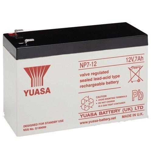 Yuasa NP7-12 12 12 V 7 A oplaadbare batterij voor alarmsystemen en beveiligingssystemen