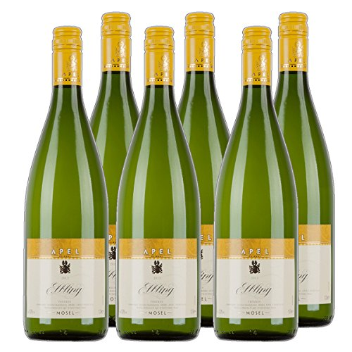 Nitteler Gipfel Elbling Liter Weißwein Mosel 2019 trocken (6x 1 l)