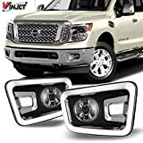 Nissan 1000 Series Accessory Lighting - Winjet OEM Series for [2016 2017 2018 2019 Nissan Titan] Driving Fog Lights + Switch + Wiring Kit