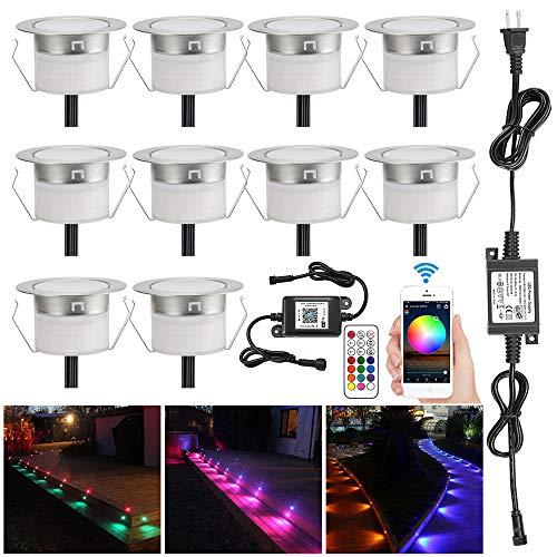 LED Deck Light Kit, 10pcs Φ1.77