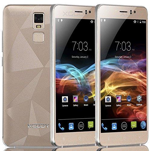 YUYDYU 5.5'Pulgadas XGODY Desbloqueado teléfonos Inteligentes 3G Dual SIM Android GPS WiFi Quad Core