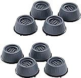 8 Stück Anti-Vibrations-Waschmaschinenunterstützung, Schockgeräuschunterdrückende Füße rutschen ab, Anti-Rutsch-Gummi-Waschmaschinen-Fußpolster, Anti-Trockner-Waschmaschinen-Vibrationspads