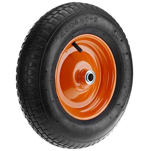 PrimeMatik - Ruota pneumatica di carriola 95 kg 16x4 406x102 mm per Piattaforme di Trasporto
