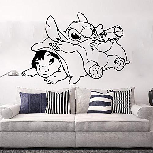 Tianpengyuanshuai kinderkamer cartoon anime kruissteek wandtattoo vinyl sticker kinderen