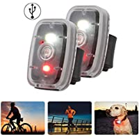 2-Pack MapleSeeker Bike LED Safety Light with 5 Lighting Modes