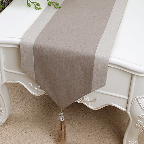 YBX Chemin de Table Lin Table Runner Linge de Table Cotton Decor Salon Table Décoration Noel Table Drapeau De Table Décor Maison Jardin Restaurant 33x150cm
