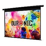 Duronic EPS92 /169 Ecran de Projection électrique 92 Pouces 16:9/203 x 114 cm - Fixation Mur ou Plafond - 4K Full HD 3D