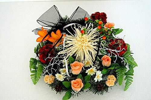 tatjana-land-deko Totensonntag Gesteck Allerheiligen Grabgesteck Gedenken Grabschmuck Rosen BR1 (BR1-2)