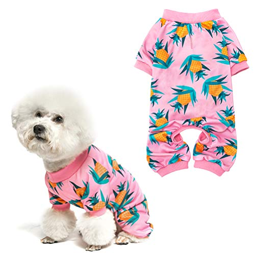 Soft Dog Pajamas - Adorable Dog Apparel Jumpsuit, Cute Pet Clothes Dog Pjs with Fruit Pattern,...