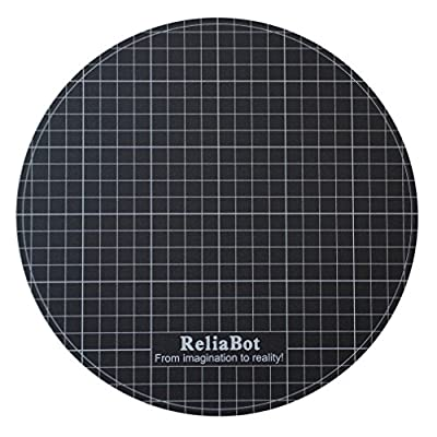 "ReliaBot Delta 3D Printer Build Surface Sticker for Diameter 240mm (9.44"") Round Glass Plate and Heatbed"