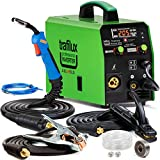 3 in 1 MIG Inverter Welder Synergy Automatic Settings ALU Steel Welding Machine TRAFILUX 200A MMA Stick Arc Welder TIG 240V Flux Portable LED Display / Only 6 kg Weight!