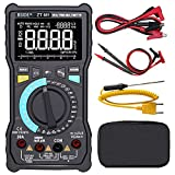 Bside EBTN LCD Multimeter 3-Line Display Large Screen True RMS Digital 8000 Counts Auto-Ranging Voltmeter VFC Temperature Capacitance AC/DC Voltage Ohm Battery Tester with Alligator Clip