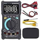 BSIDE ZT-M1 True RMS Multimètre numérique à 3 lignes, affichage 8 000 points, DMM, VFC, température, contenance, voltage CA/CC, testeur de batterie et clip crocodile