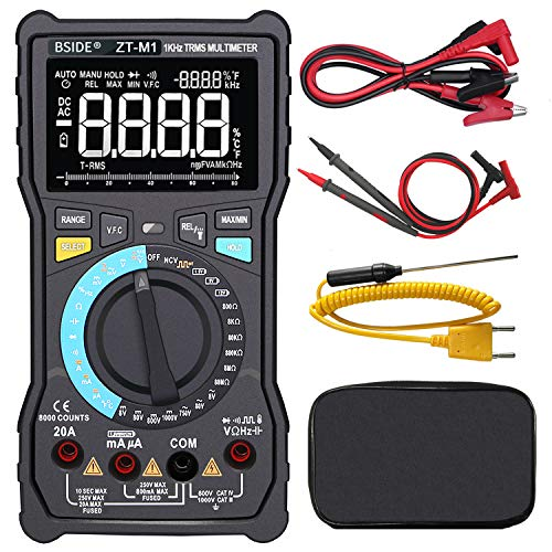 of gold tester electronics dec 2021 theres one clear winner Bside EBTN LCD Multimeter 3-Line Display Large Screen True RMS Digital 8000 Counts Auto-Ranging Voltmeter VFC Temperature Capacitance AC/DC Voltage Ohm Battery Tester with Alligator Clip