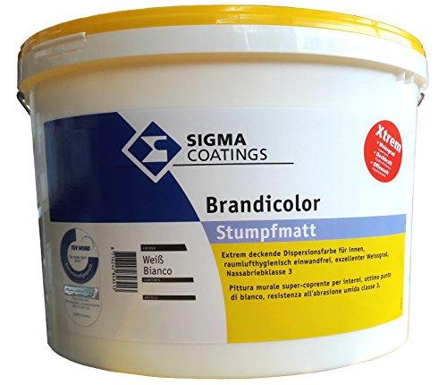 SIGMA Brandicolor Xtreme, 12,5L Innenwandfarbe, weiss, hochdeckend, stumpfmatt.