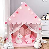 Avrsol Kids Play Tent Princess Castle with 9.9ft Star String Lights Girls Large Playhouse Children Fairy Play Castle Tent Indoor