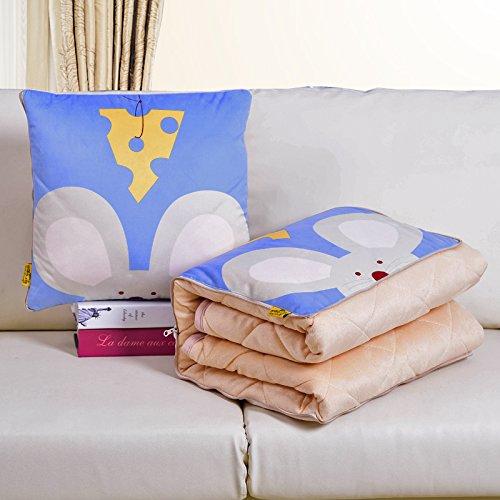 SCBED Pequeña Serie de Frescos del Invierno cálido Almohada cojín sofá es Espesada,40x40cm (110 * 150),el Cashmere Mouse de Queso