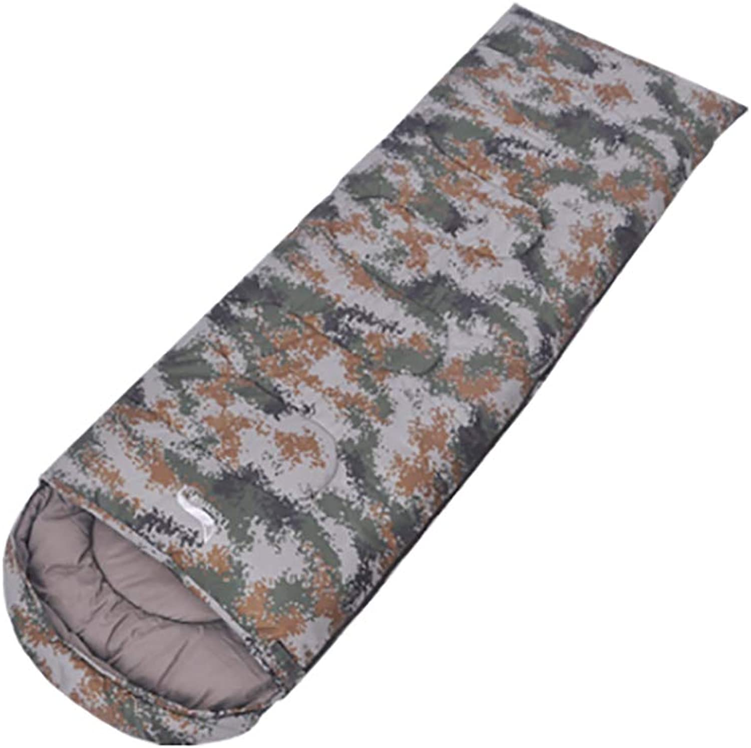 Camouflage Outdoor Sleeping Bag, Spring and Autumn Winter Sleeping Bag Widened Camping Sleeping Bag Lunch Break Travel Camping