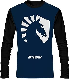 Mens T Shirt Team Liq-Uid O-Neck Long Sleeve Graphics Tees