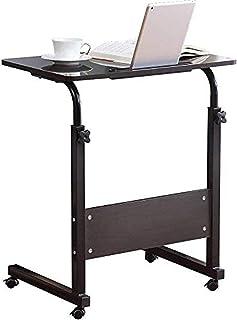 Standing Desk Adjustable Laptop Desk with Tablet iPad Slot Portable Desk for Laptop with Wheels Mobile Workstation Stand u...
