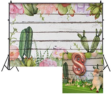 Zhy Cactus Backdrop for Photography Desert Green Watercolor Painting Background 7x5ft 2.1x1.5m Girl Party Decor Supplies Photo Shooting Props 106