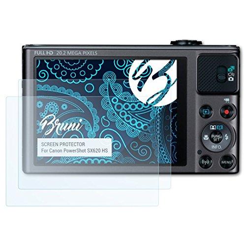 Bruni Película Protectora Compatible con Canon PowerShot SX620 HS Protector Película, Claro Lámina Protectora (2X)