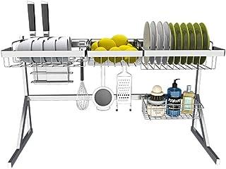 SCRFF Support for évier à Plat sur l'évier, étagère de Drain for Accessoires de Cuisine Rangement Comptoir Organisateur Po...