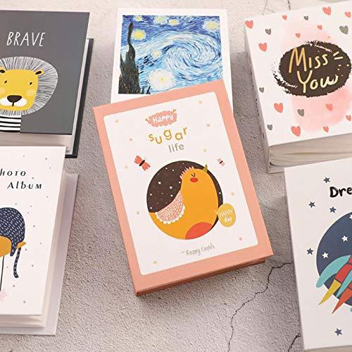 BLOUR Lindo Animal Cubierta de cartón álbum de Fotos Almacenamiento estándar 5/6 Pulgadas Libro de Fotos álbum de Memoria de Crecimiento del bebé álbum de Recortes Polaroid Familiar