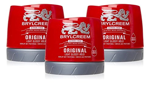 3 X Brylcreem Original Hair Dressing Cream Red Tub Mens Styling Cream 250ml by Brylcreem