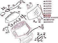 MB A W176 AMG リア パネル ドア モデル プレート A1768170800 NEW GENUINE