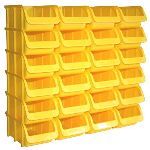 24 Profi Lager-Sichtboxen PP Größe 2 in Farbe Gelb