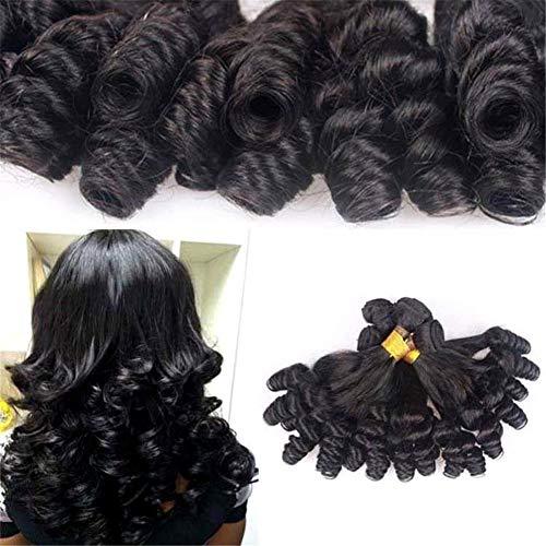 Funmi Curly Bouncy Bouncy Extensions de Cheveux Brésiliens Grade 8A Spirale Bouclée 100% Non Transformée Trame de Cheveux Humains Vierge 1 Bundle 100g, 22 '