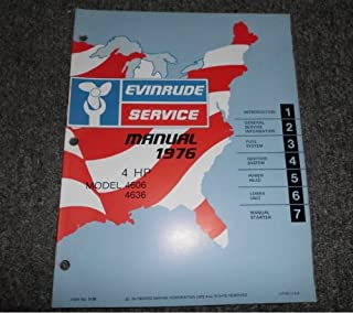 1976 Evinrude 4 HP Service Manual OEM 4606 4636