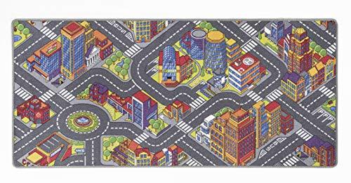 andiamo Kinderteppich Game City Bunt mit detailiertem Straßenmotiv, Polyamid, 95 x 200 cm