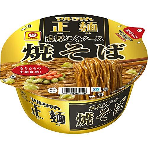 マルちゃん正麺 カップ 濃厚こくソース焼そば 132g ×12個