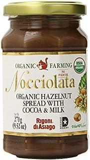 Rigoni Di Asiago Nocciolata Hazelnut Spread, Cocoa and Milk, 9.52 Ounce Jar - SET OF 2